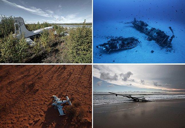 Projeto fotográfico registra aviões que conseguiram realizar pousos forçados