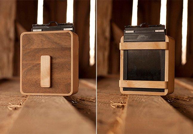 Conheça a estilosa câmera feita de madeira