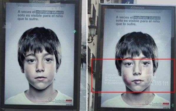 Campanha contra abuso infantil traz mensagem oculta que só crianças veem
