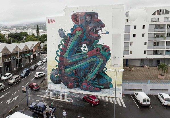 Conheça as criaturas bizarras criadas pelo grafiteiro Aryz