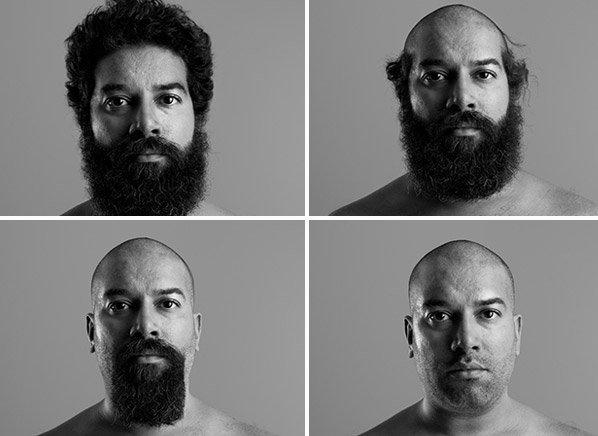 Série de fotos mostra a diferença que  a barba e o cabelo fazem num homem