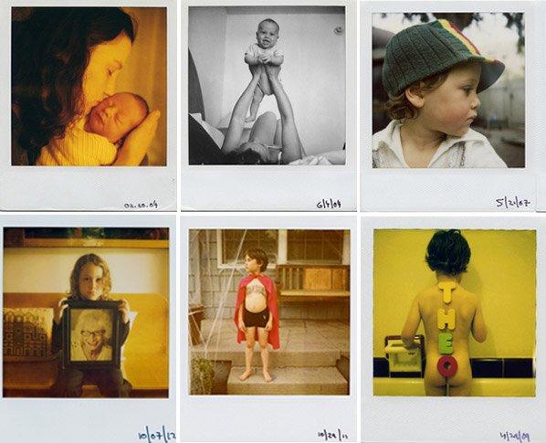 Há 9 anos, pai registra a infância do filho em fotografias Polaroid