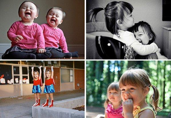 Pai registra a infância das filhas gêmeas idênticas em série apaixonante