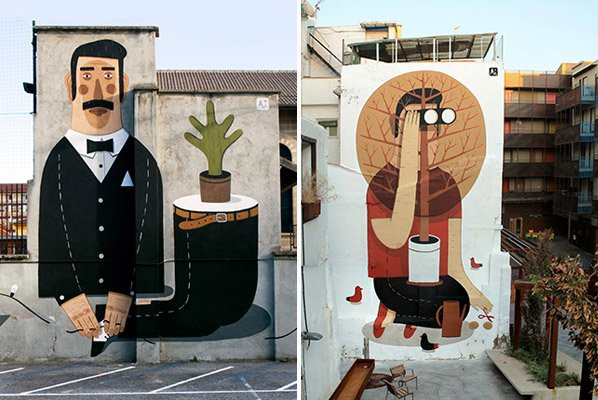 Conheça o graffiti minimalista e gigante de Agostino Iacurci