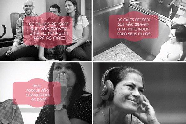 Ação em homenagem ao Dia das Mães surpreende mães e filhos de uma vez só