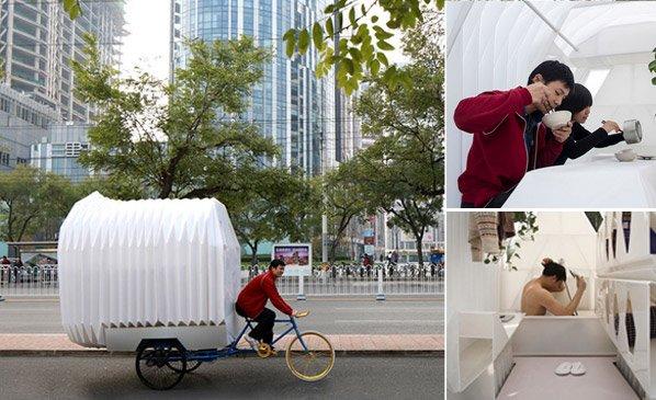 E se você pudesse levar a sua casa num triciclo?