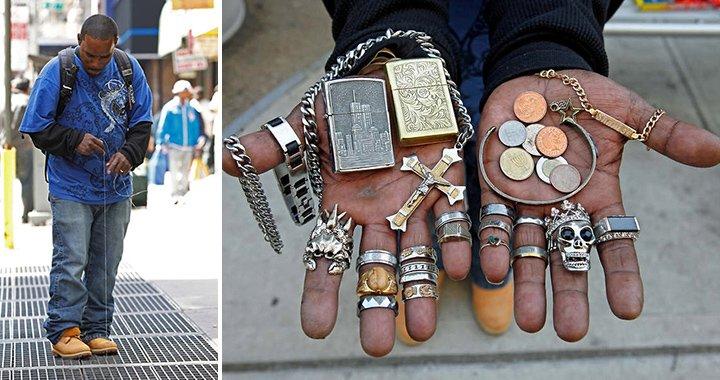 """Conheça o """"caçador urbano""""que vive dos objetos que acha na rua"""