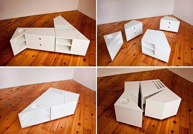 Móvel dinâmico permite mudar a decoração da sua casa em instantes
