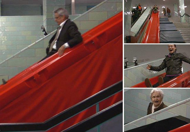 E se substituíssemos as escadas por escorregadores?