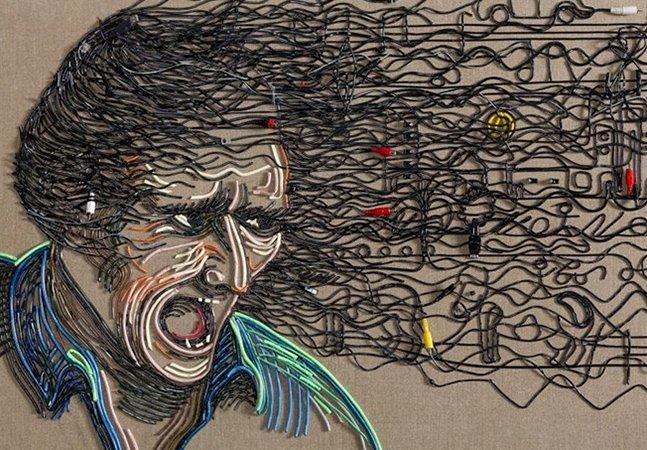 Artista inova ao criar arte fantástica com cabos elétricos