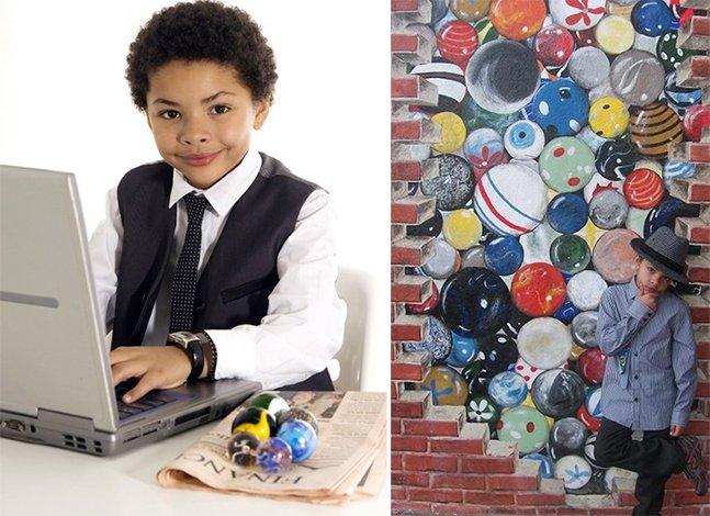 Menino de 8 anos fica rico vendendo bolinhas de gude na internet