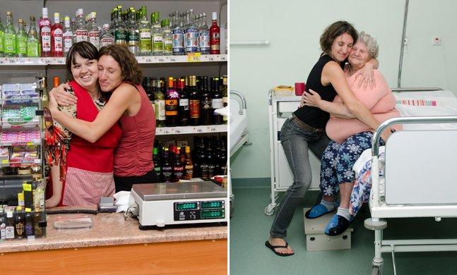 Fotógrafa registra o poder de um abraço para aproximar pessoas
