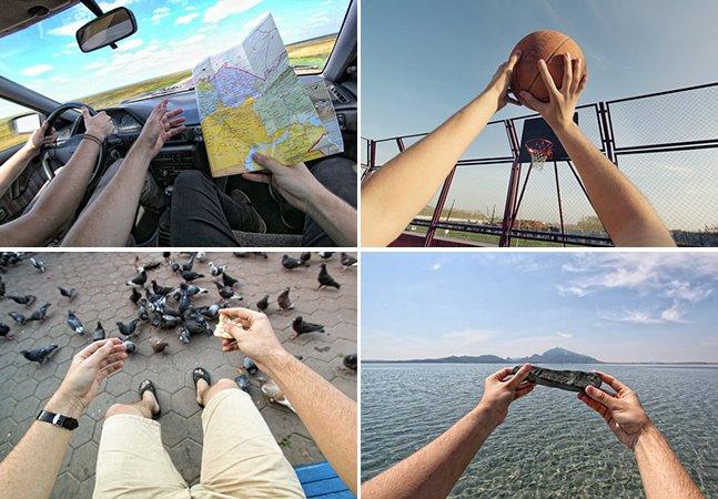 Fotógrafo cria série mostrando a vida do seu ponto de vista
