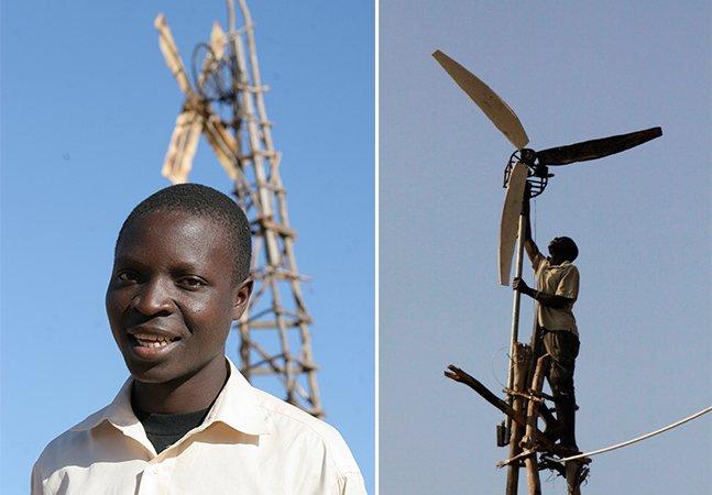 Menino de 14 anos cria moinho de vento e leva energia para sua família
