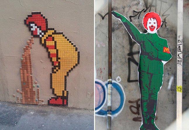 A visão de 8 artistas de rua sobre a rede de fast food McDonald's