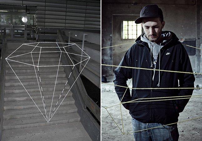 Uma forma inovadora de criar arte urbana – usando fios e pregos