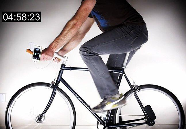 Produza energia para carregar seu smartphone enquanto pedala