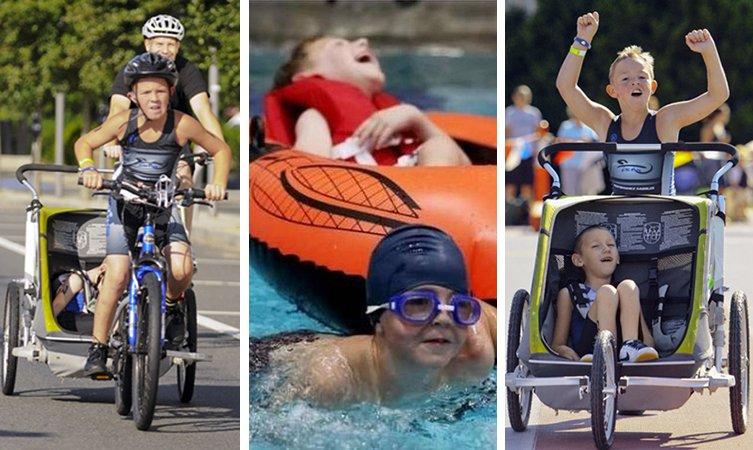 Menino participa de competições levando junto seu irmão com paralisia cerebral
