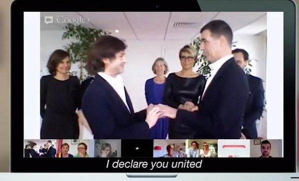 Primeiro casamento 'social' entre pessoas do mesmo sexo é feito via Hangout