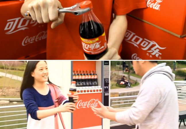 Entenda como a Coca-Cola aproximou casais com garrafas difíceis de abrir