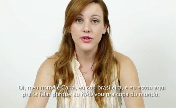 Brasileira lança vídeo anti-copa e chama atenção do mundo