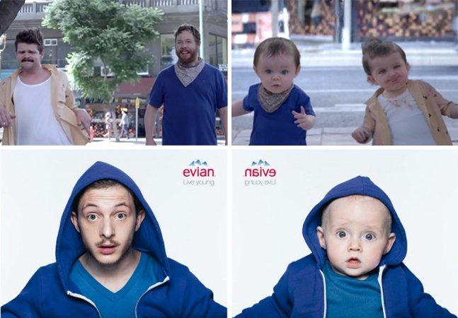 Campanha publicitária divertida transforma adultos em bebês dançarinos