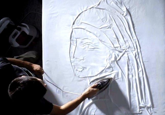Quando um ferro de passar e um lençol se transformam em obras de arte