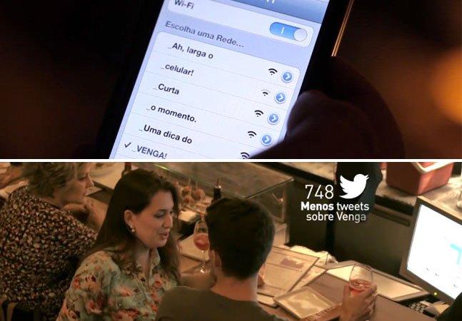 Bar incentiva as pessoas a não usarem o Wi-fi para aproveitarem o momento