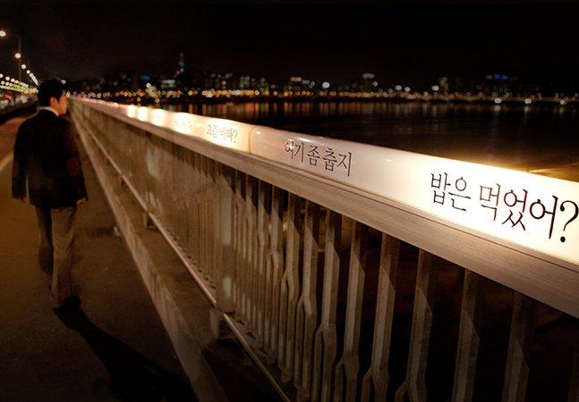 Ação publicitária reduz em 85% o número de suicídios em ponte na Coréia