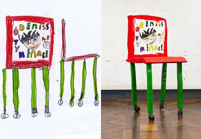 Desenhos de crianças são transformados em mobílias de verdade