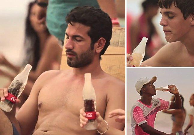 Coca-Cola lança garrafa de gelo pra manter a bebida gelada até o fim