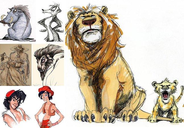 Conheça alguns esboços originais de personagens da Disney