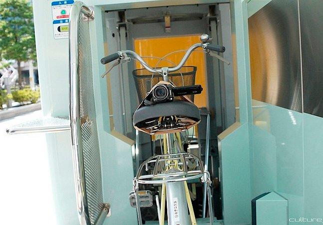 Sistema de estacionamento inovador coloca bicicletas debaixo da terra