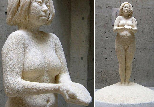 Artista cria escultura feita com 1 milhão de grãos de arroz colados