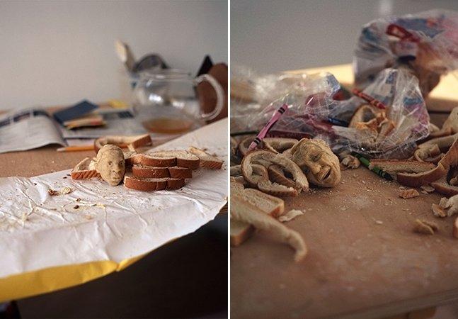 Artista cria esculturas de personagens famosos usando pão de forma