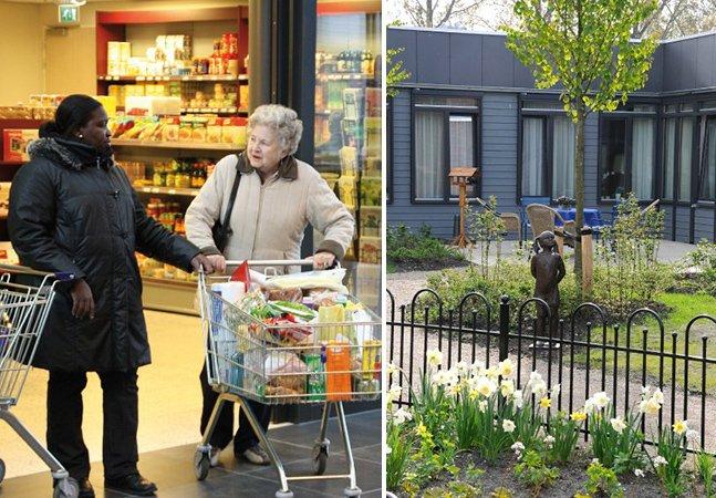 Conheça a vila totalmente adaptada pra realidade de pacientes com Alzheimer