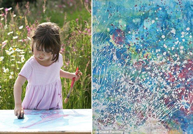 Garota autista de 3 anos pinta quadros que valem uma fortuna