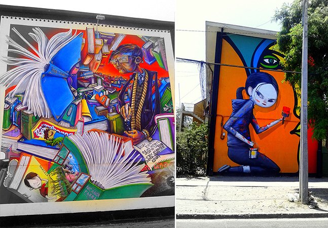 Conheça a galeria de graffiti a céu aberto no Chile
