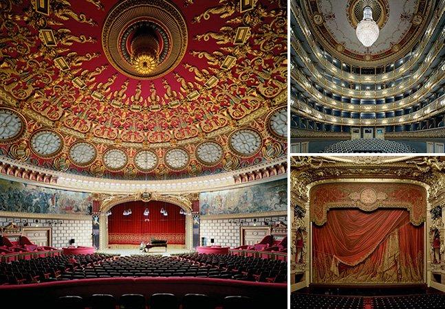 Série de fotos mostra a imensidão e a beleza de casas de ópera vazias