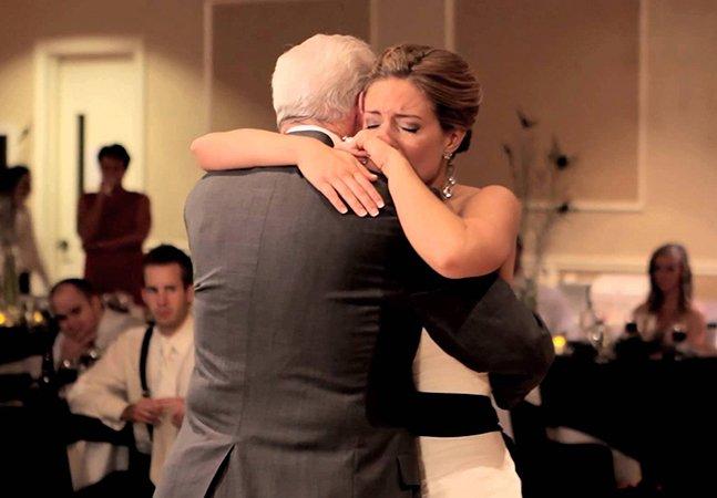 Para dançar com seu pai com câncer terminal, filha cria casamento de mentira