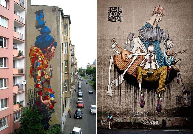 A fantástica arte urbana do grafiteiro Sainer