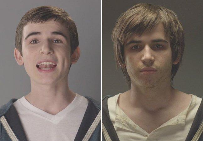 Time-lapse mostra o efeito devastador do uso de drogas na adolescência