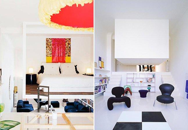 Quarto suspenso economiza espaço e traz estilo para apartamento