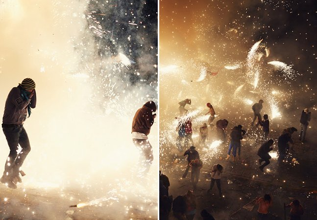 A beleza e o perigo dos fogos de artifício em série fotográfica