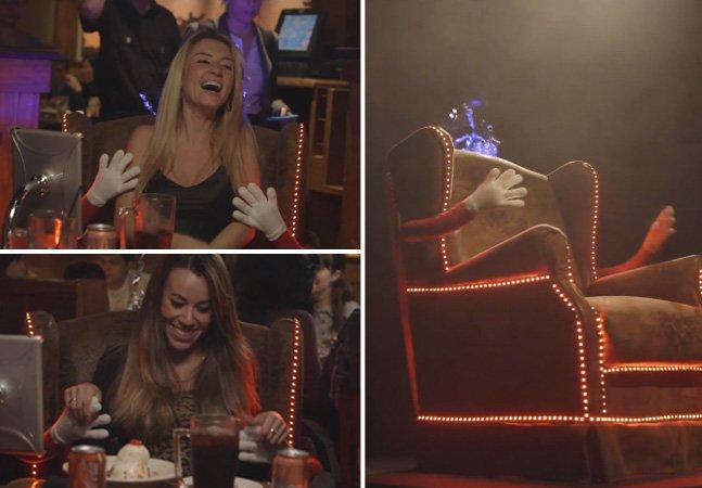 Uma cadeira que te abraça toda vez que um amigo te dá parabéns no Facebook