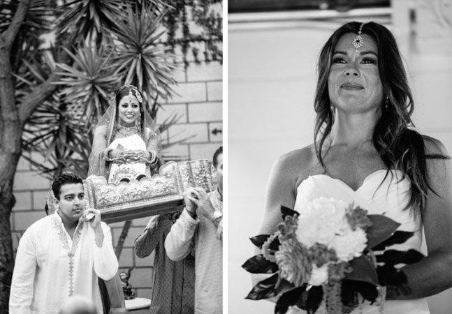 Fotógrafa registra casamento entre 2 mulheres seguindo a tradição indiana