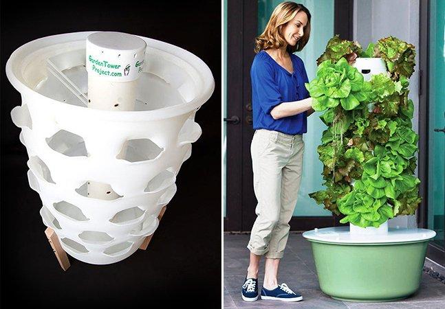Jardim vertical permite plantar orgânicos em casa aproveitando suas sobras