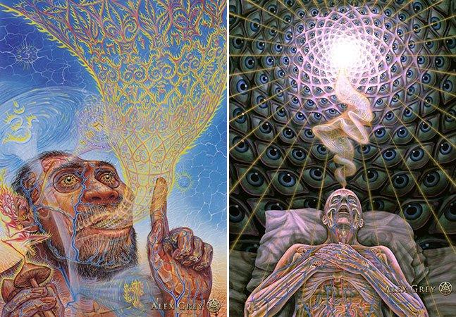 Se você gosta de arte psicodélica, precisa conhecer esse artista