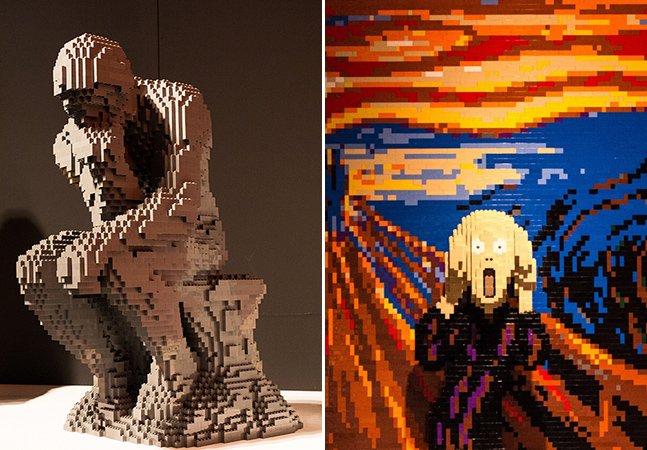 Artista recria obras famosas utilizando apenas peças de LEGO