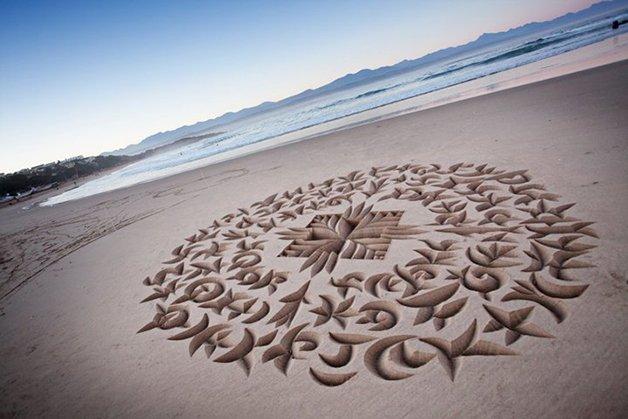 BeachCalligraphy0